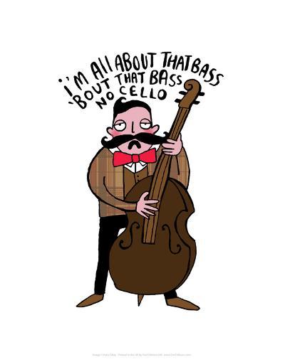 All About That Bass - Katie Abey Cartoon Print-Katie Abey-Art Print