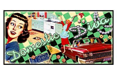 All American Domestic Diva--Giclee Print