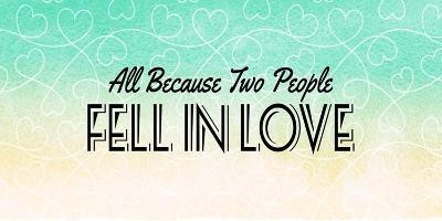 All Because Two People Turquoise Ombre-Color Me Happy-Art Print