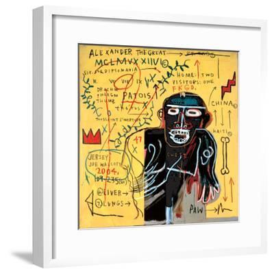 All Coloured Cast (Part Iii)-Jean-Michel Basquiat-Framed Giclee Print