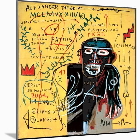 All Coloured Cast (Part Iii)-Jean-Michel Basquiat-Mounted Giclee Print