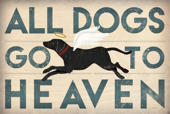 All Dogs Go to Heaven I-Ryan Fowler-Art Print