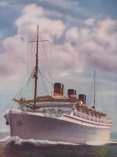 'All Electric from Stem to Stern - The Monarch of Bermuda', 1937-Unknown-Giclee Print