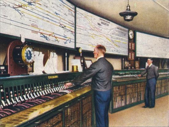 All-electric signal box, 1938-Unknown-Giclee Print