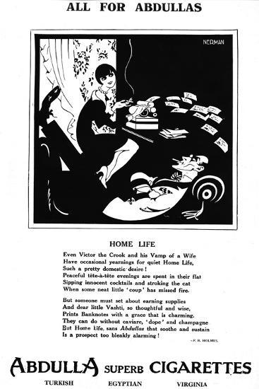 'All for Abdullas - Home Life', 1927-Unknown-Giclee Print