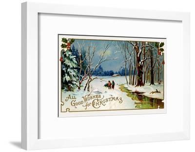All Good Wishes for Christmas--Framed Art Print