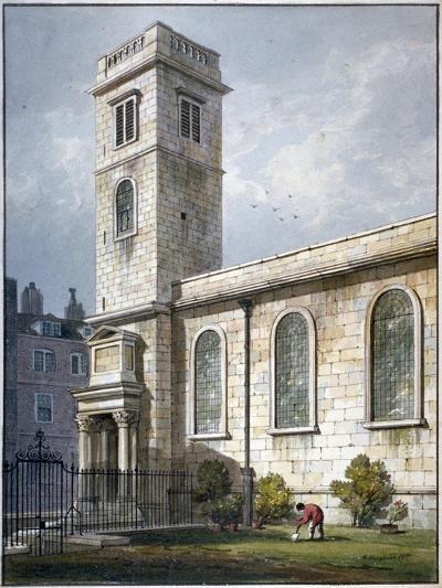 All Hallows Church, Lombard Street, London, 1811-George Shepherd-Giclee Print