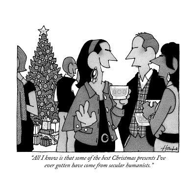 """""""All I know is that some of the best Christmas presents I've ever gotten h?"""" - New Yorker Cartoon-William Haefeli-Premium Giclee Print"""