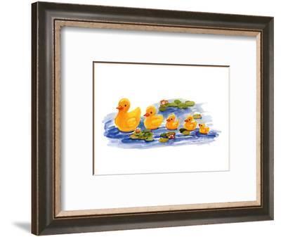 All in a Row-Sarah Street-Framed Art Print