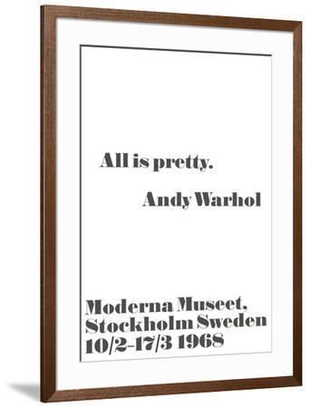 All is pretty.-John Melin-Framed Art Print
