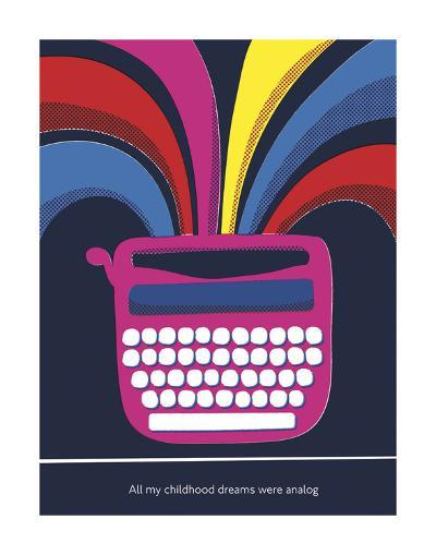 All My Childhood Dreams Were Analogue-Anthony Peters-Art Print