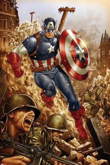 All-New, All-Different Avengers No.4 Cover and Featuring Captain America-Mark Brooks-Art Print