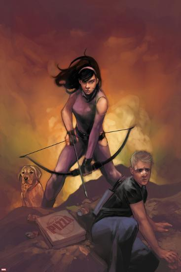 All-New Hawkeye No. 5 Cover Featuring Kate Bishop, Hawkeye-Phil Noto-Art Print