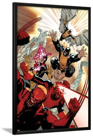 All-New X-Men #10 Cover: Wolverine, Cyclops, Grey, Jean, Beast, Iceman, Angel-Stuart Immonen-Lamina Framed Poster