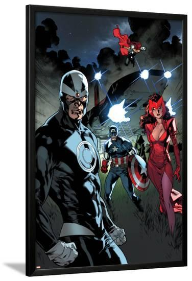 All-New X-Men #11 Featuring Havok, Scarlet Witch, Captain America, Thor, Rogue-Stuart Immonen-Lamina Framed Poster