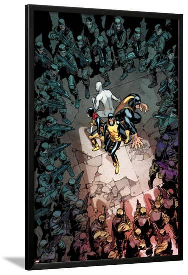All-New X-Men #13 Cover: Cyclops, Grey, Jean, Iceman, Beast-Stuart Immonen-Lamina Framed Poster