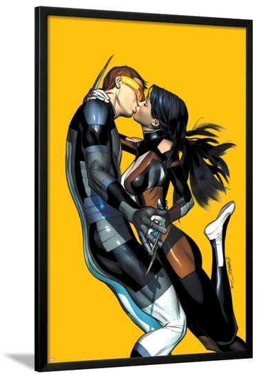 All-New X-Men #20 Cover: Cyclops, X-23-Brandon Peterson-Lamina Framed Poster