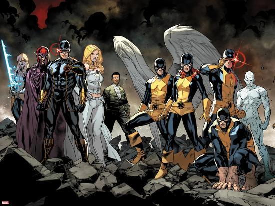 All-New X-Men No. 1: Beast, Grey, Jean, Cyclops, Iceman, Angel, Magneto, Magik, Frost, Emma--Art Print