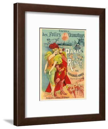 All Paris in the Revue - Theatre des Folies Dramatiques - by M.M Blondeau & Monréal-Alfred Choubrac-Framed Art Print
