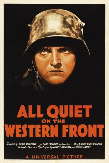 All Quiet On the Western Front, 1930, Directed by Lewis Milestone--Giclee Print