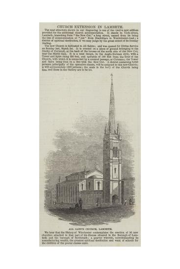 All Saints Church, Lambeth--Giclee Print