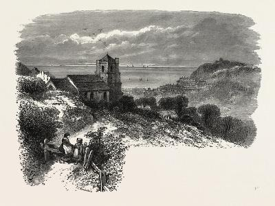 All Saints, Hastings, from Eastcliff, the South Coast, UK, 19th Century--Giclee Print