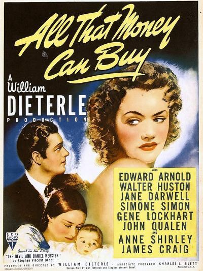 All That Money Can Buy (aka the Devil and Daniel Webster), James Craig, Anne Shirley, 1940--Photo