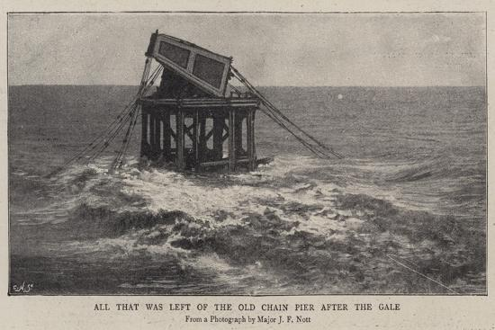 All That Was Left of the Old Chain Pier after the Gale--Giclee Print