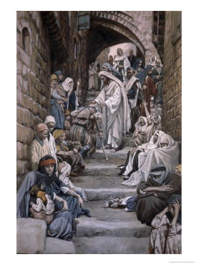 All the City Was Gathered Together-James Tissot-Giclee Print