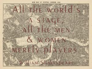 All the World's a Stage (Shakespeare) - 1892, Central London, United Kingdom Map