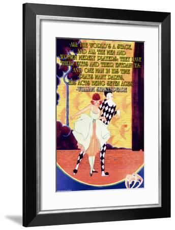 All the World's a Stage--Framed Art Print