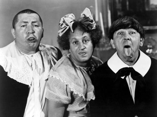 All the World's a Stooge, Curly Howard, Larry Fine, Moe Howard, 1941--Photo