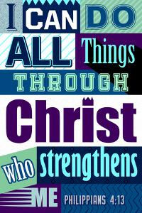 All Things Through Christ (blue)
