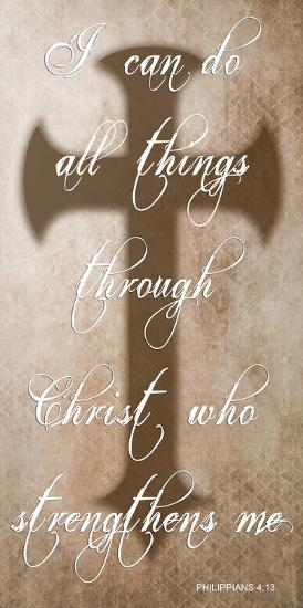 All Things Through Christ-Sheldon Lewis-Art Print