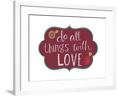 All Things with Love-Katie Doucette-Framed Art Print