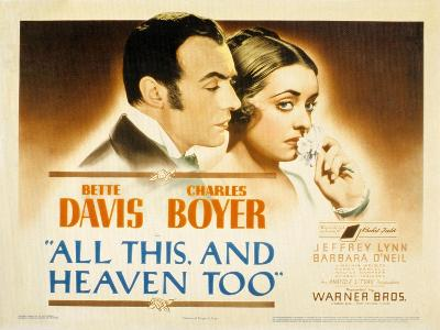 All This and Heaven Too, Charles Boyer, Bette Davis, 1940--Photo