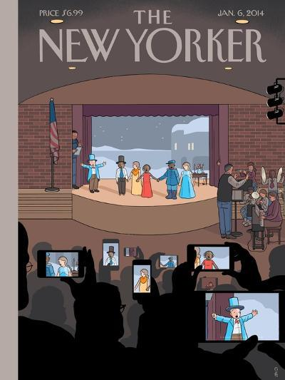 All Together Now - The New Yorker Cover, January 6, 2014-Chris Ware-Premium Giclee Print