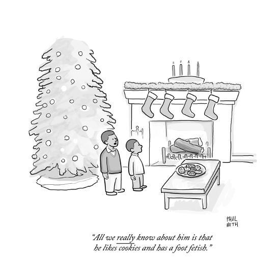"""""""All we really know about him is that he likes cookies and has a foot feti - Cartoon-Paul Noth-Premium Giclee Print"""