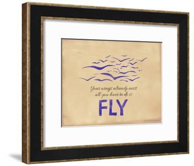 All You Have to Do is Fly-Jeanne Stevenson-Framed Giclee Print