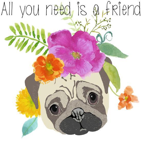 All You Need Is A Friend-Edith Jackson-Art Print