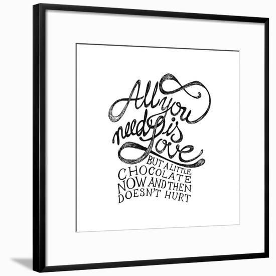 All You Need Is Love and Chocolate-ONiONAstudio-Framed Art Print