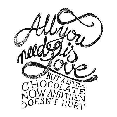 All You Need Is Love and Chocolate-ONiONAstudio-Art Print