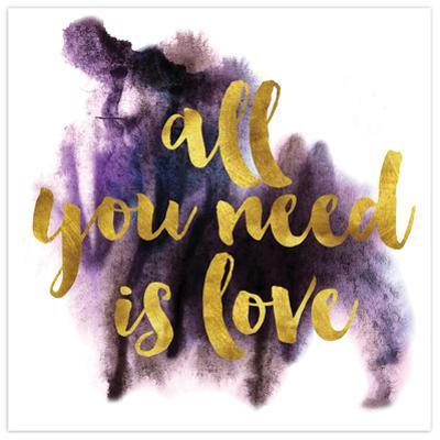 All You Need is Love - Free Floating Tempered Glass Panel Graphic Art
