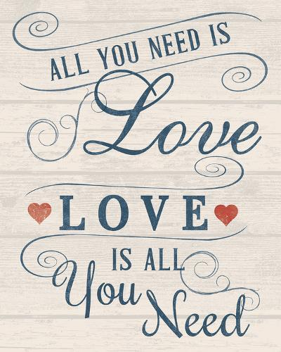 All You Need is Love-Tom Frazier-Art Print