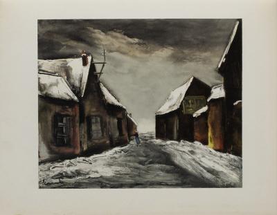 Allainville Sous la Neige, 1946-Maurice De Vlaminck-Collectable Print