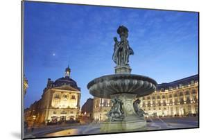 'The Three Graces' Fountain in Central Bordeaux by Allan Baxter