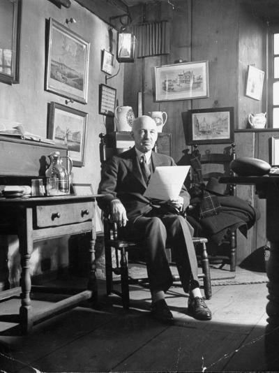 Allan Forbes, President of the State Street Trust Corporation, Sitting in His Office--Photographic Print