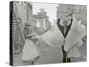 Actress Grace Kelly Leaving Hollywood Studio Lot for Last Time Before Her Marriage by Allan Grant