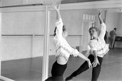 American Actress Debbie Reynolds Watches Herself in a Mirror During a Dance Rehearsal, 1960
