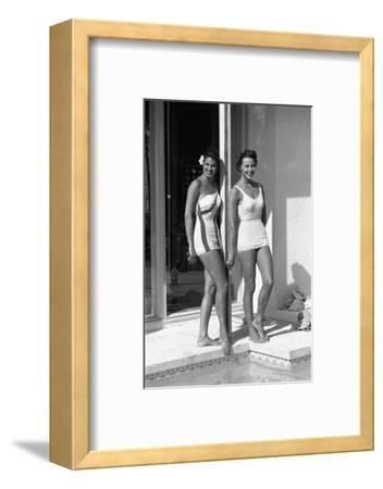 Celia Kyllingstad (R) and Carol Hall (L), at a Private Pool, Seattle, Washington, 1960